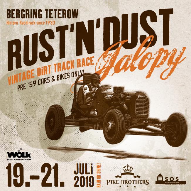 Die Chrome Hunters beim Rust'n'Dust Jalopy 2019